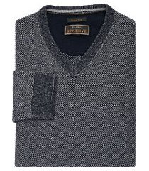 reserve collection wool blend v-neck men's sweater clearance