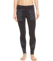 free people fp movement kyoto pocket leggings, size x-small in washed black at nordstrom