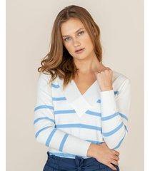 suéter rayas bicolor