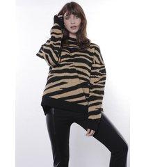 sweater animal print item lurex