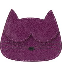 sarah chofakian cat card-holder - purple