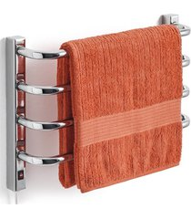 toalheiro térmico 220v para 1 toalha fio lado esquerdo cromado