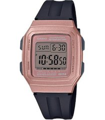 reloj digital casio f-201wam-5a plata