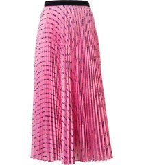 miu miu pleated long skirt