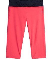leggings deportivo corto con pretina color rosado, talla xl