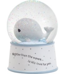 precious moments mightier than the waves whale musical snow globe
