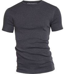 garage basis t-shirt ronde hals semi bodyfit antraciet