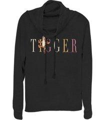 fifth sun juniors winnie the pooh tigger fashion fleece cowl neck sweatshirt