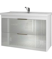 gabinete suspenso para banheiro lavanda 56x79,3cm branco