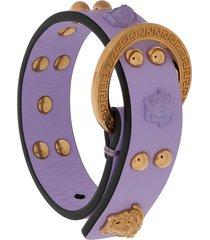 versace medusa stud bracelet - purple