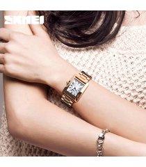 strass de reloj de cuarzo resistente al agua para mujer