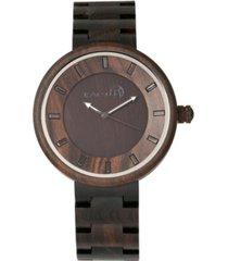 earth wood branch wood bracelet watch brown 45mm