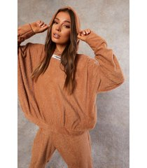 gerecyclede badstoffen hoodie, camel