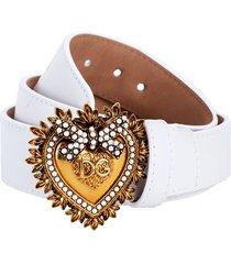 white devotion belt