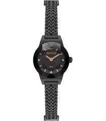 relógio technos elegance mini 5y20it/4p 21mm aço feminino