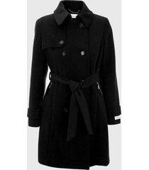 abrigo elite wool negro calvin klein