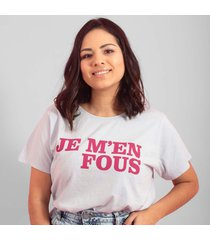 blusa in love t-shirt je m'en gelo - branco - feminino - algodã£o - dafiti