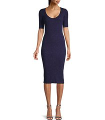 corazon rib-knit bodycon dress