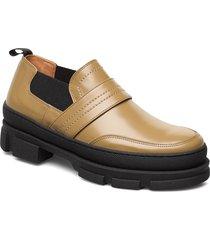 loafer loafers låga skor brun ganni