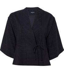 kimono le lis blanc elza malha preto feminino (black, gg)