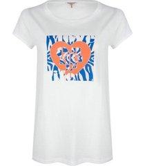 esqualo t-shirt sp20.05018 heart print