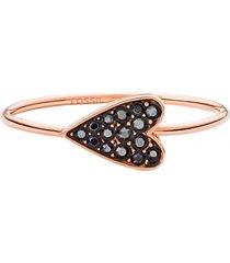 anillo corazón oro rosa  fossil