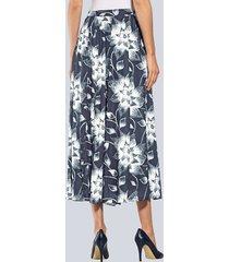blommig kjol alba moda marinblå::vit