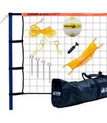 park & sun sports spiker sport steel portable outdoor volleyball net set with bag