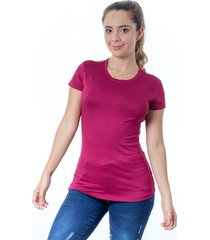 mini t-shirt dama cuello redondo ciruela s bocared maite 27011663