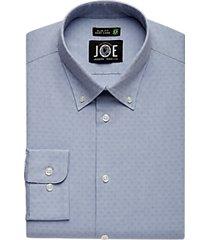 joe joseph abboud repreve® blue jacquard dress shirt