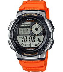 reloj casio ae_1000w_4bv naranja resina