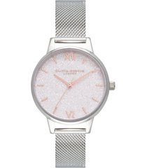 olivia burton women's classics stainless steel mesh bracelet watch 30mm