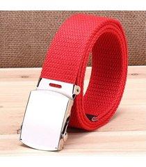 cinturón de hombres, cinturón de lona casual-rojo