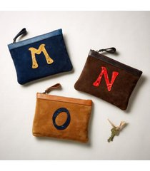 sundance catalog women's heartsake pouch in cognc/navy