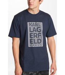 karl lagerfeld paris men's kl block shiny logo tee