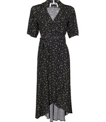 black viscose blend dress