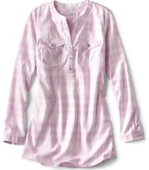 wrinkle-free popover patterned tunic