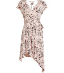bcbgmaxazria animal-print asymmetrical dress