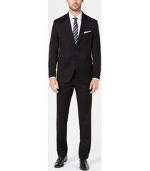 dockers men's modern-fit black solid suit