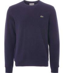 men's cotton piqué fleece crew neck sweatshirt | marine | sh8811-166