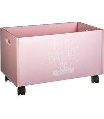 skrzynia pojemnik na zabawki na kółkach różowy