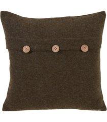 "saro lifestyle cardigan design decorative throw pillow, 18"" x 18"""