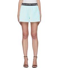 logo jacquard waistband corduroy shorts