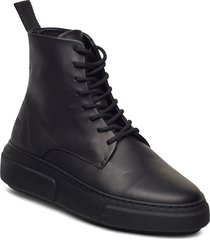422g black leather höga sneakers svart gram