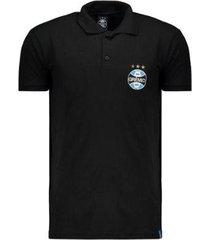 camisa polo grêmio escudo masculina