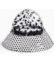 tpu clear spot bucket hat - clear