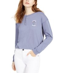 disney juniors' stitch henley t-shirt