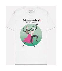 camiseta estampada verde rosa mangueira casual reserva branco