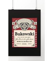 poster bukowski beer