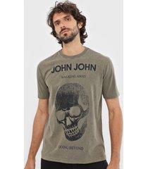 camiseta john john casual verde